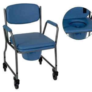 sedia comoda senza pedane con rotelle