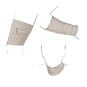 tre fasce elastiche della spykenergy applicabili in ogni parte del corpo