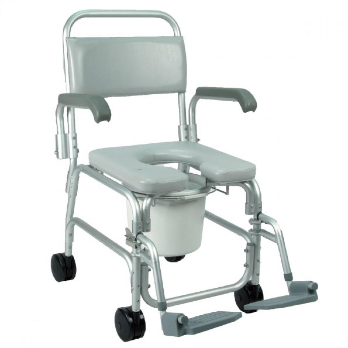 Comoda da doccia e wc rotelle piccole negozio ortopedia for Sedia a rotelle ruote piccole