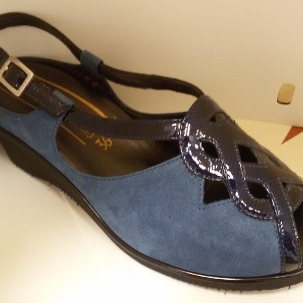 sandalo f.lli tomasi blu nero