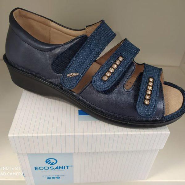 Calzature ecosanit blu chiuse dietro