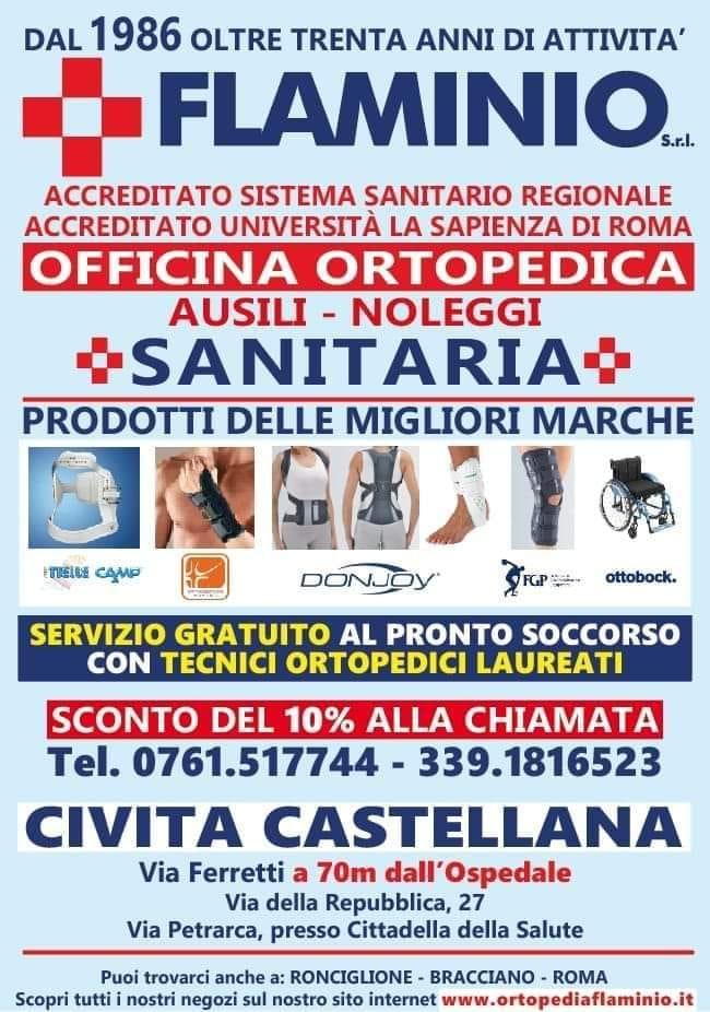 locandina laboratorio ortopedico flaminio