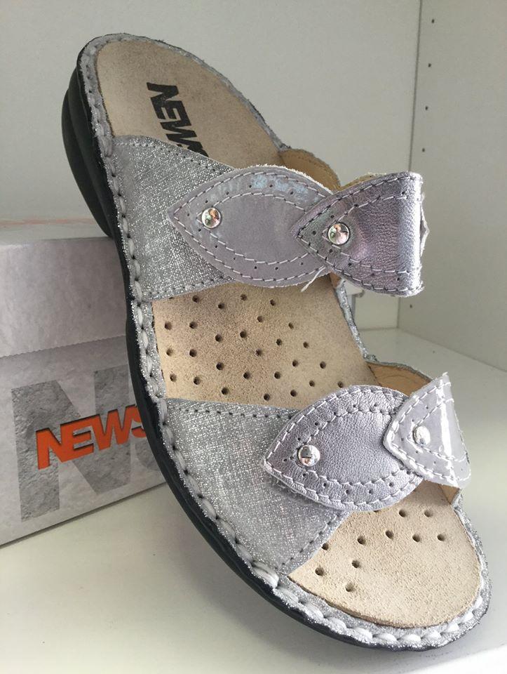 Ciabatta Newsan grigio perla
