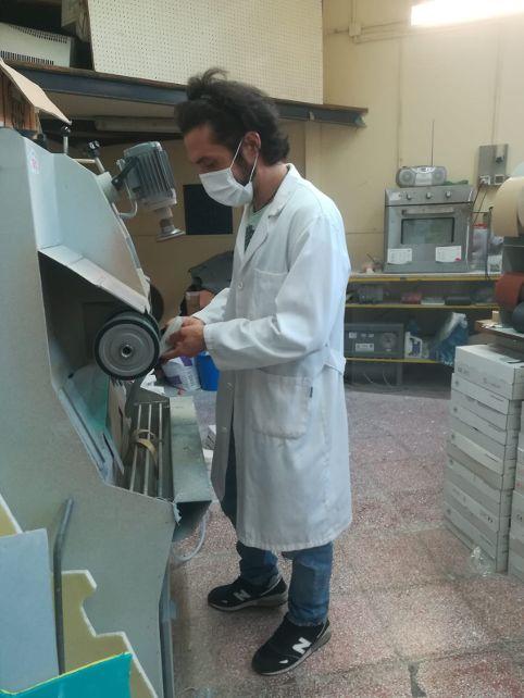 Tecnico ortopedico Giorgio Giardini del Laboratorio Ortopedico Flaminio