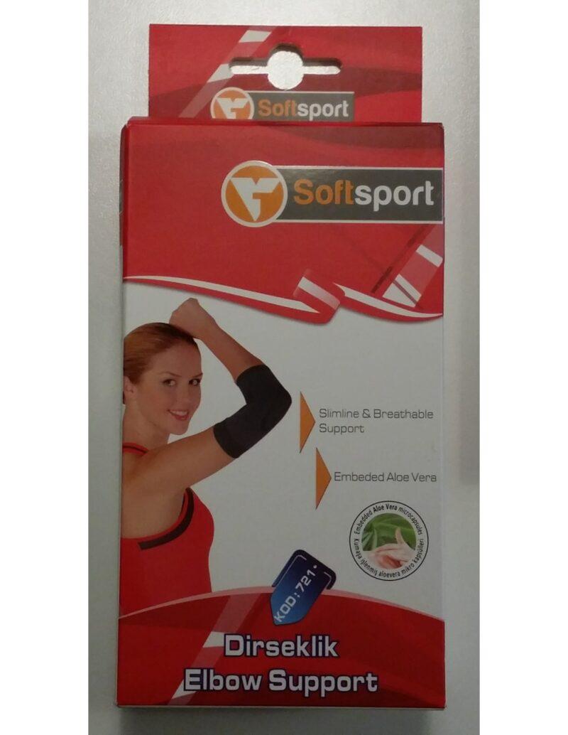 Gomitiera per la protezione dei legamenti e dei tendini del gomito durante l'attività sportiva in microcapsule di aloevera