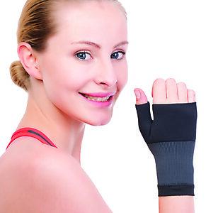 Polsiera manopola per la protezione dei legamenti della mano contrastando lesioni nello sport in tessuto traspirante